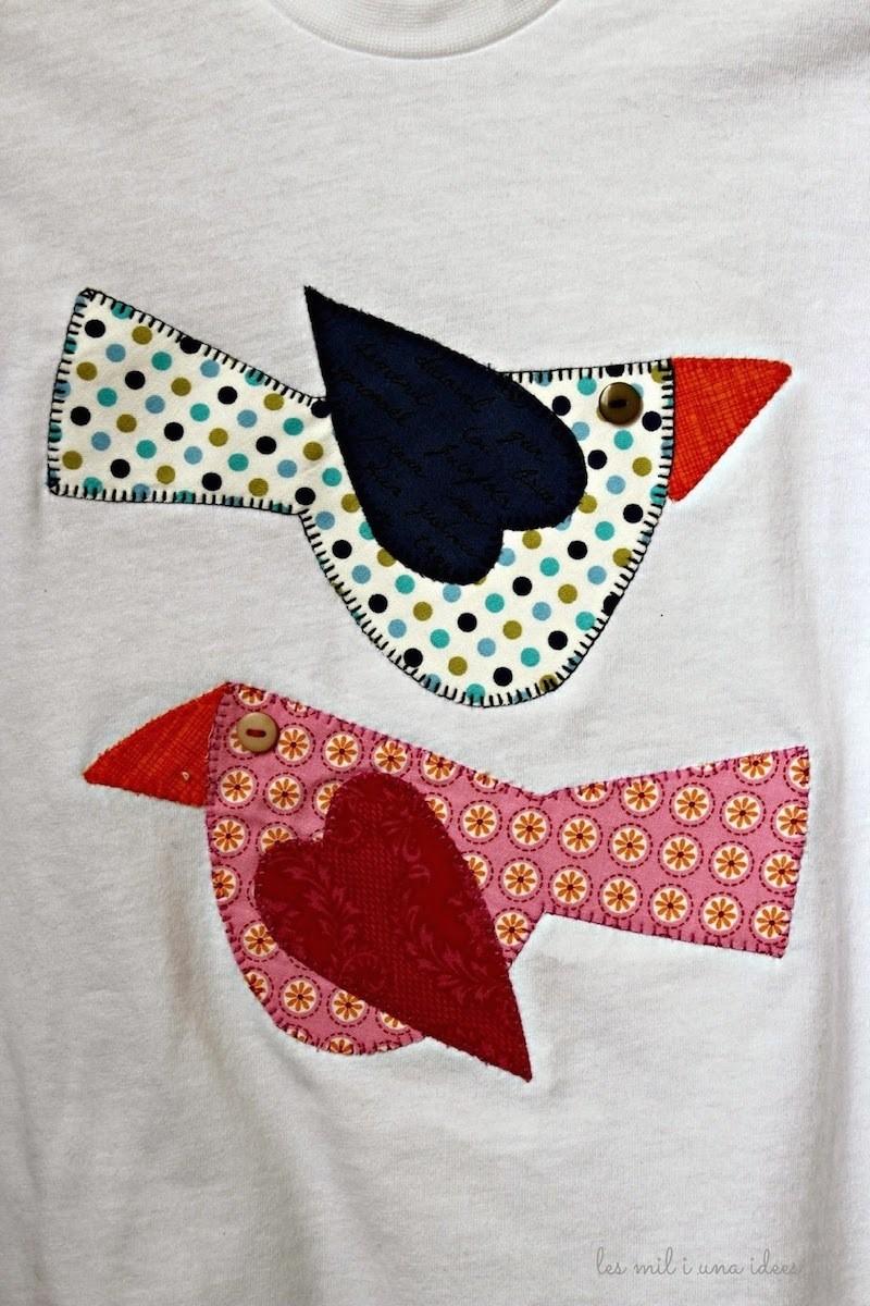Apliques de tela para camisetas vestidos o for Apliques para subida de escalera