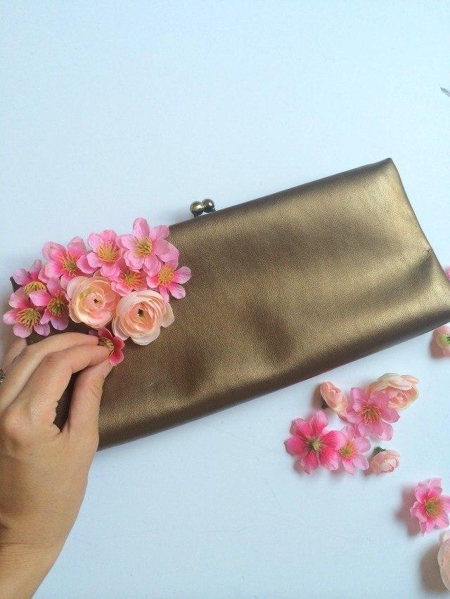 Hacer bolso con flores diy facil simotelas divinas - Telas para hacer bolsos ...