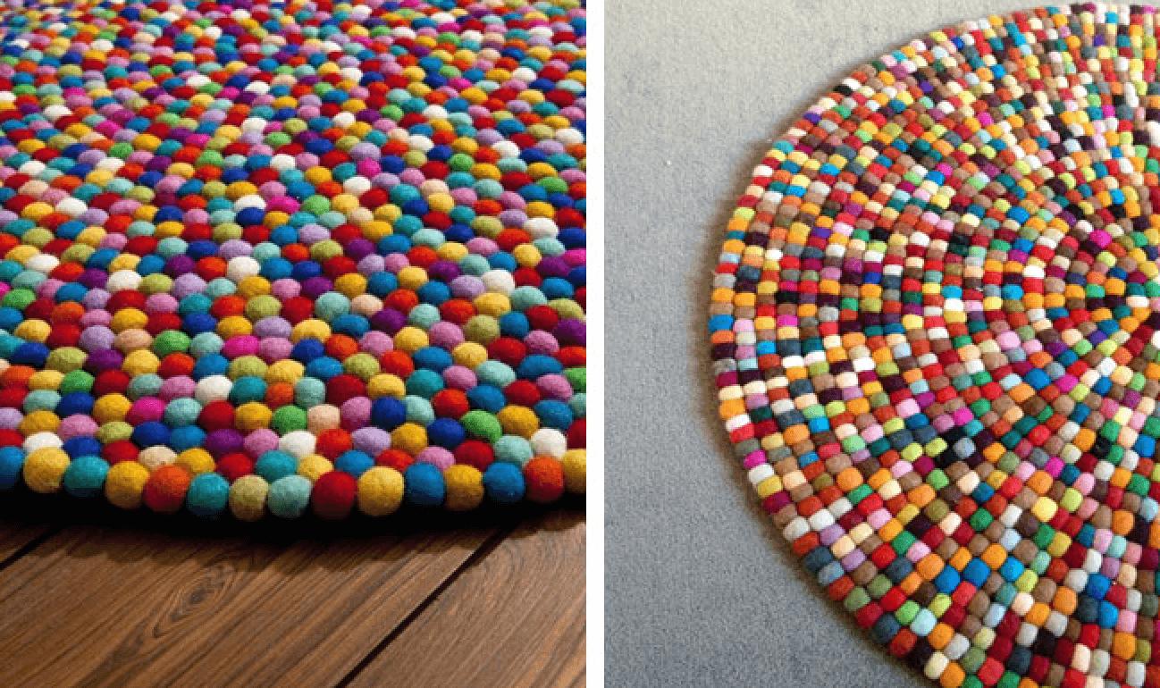Tutorial para hacer bolitas de lana telas divinas - Alfombras hechas a mano con lana ...