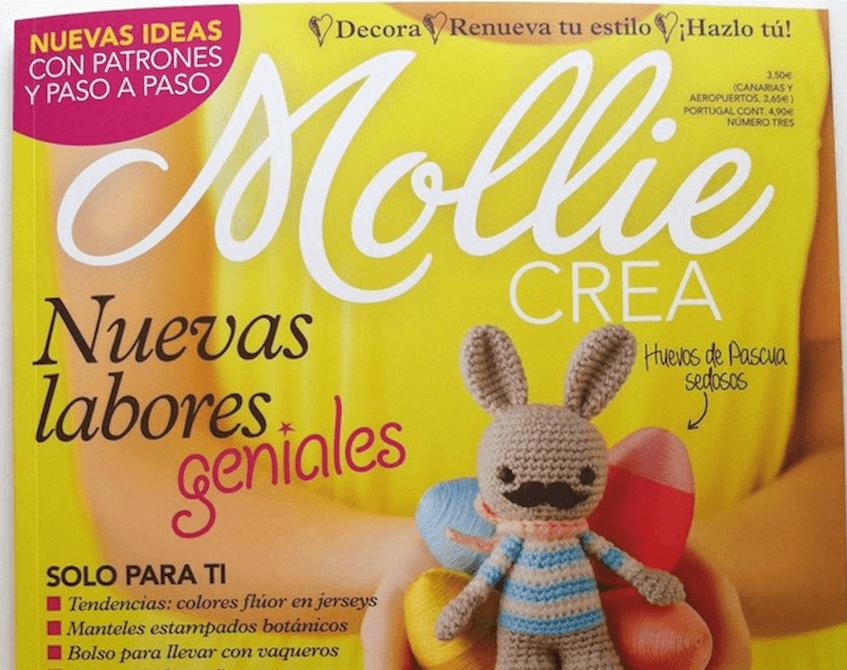 Telas bonitas y Telas Divinas utilizadas por Momita en la revista Mollie Crea.