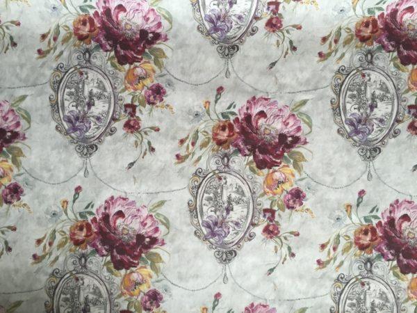 tela estampada flores