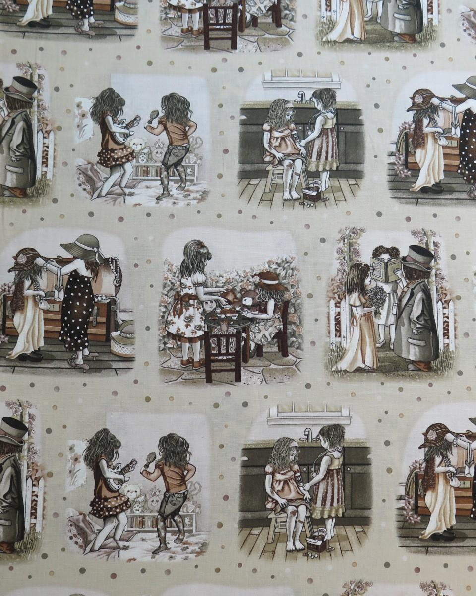 telas divinas-tela niños jugando-venta telas online
