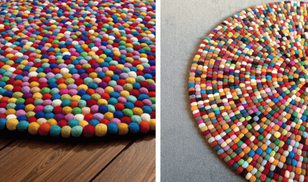 Tutorial para hacer bolitas de lana telas divinas for Lana para hacer alfombras