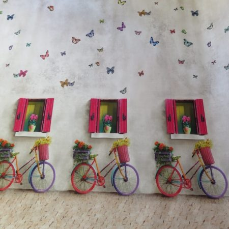 tela bicicletas-tela bicis colores- tela bicicletas ventanas colores
