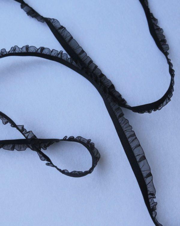 telas divinas-cinta muselina negra-telas online
