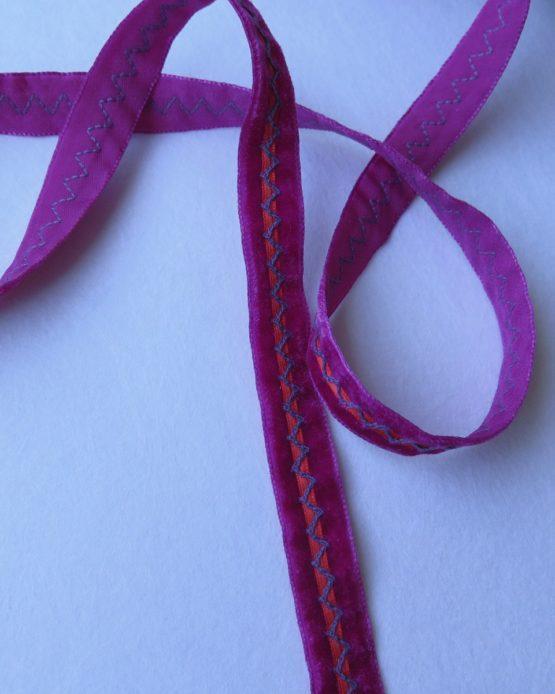 telas-divinas-cinta-terciopelo rosa-alianza-telas-online