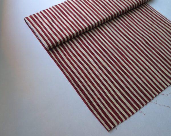telas divinas-rayas blanco rojo