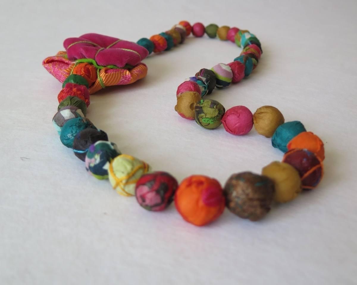 lucia castaño-collar bolas tela-tienda telas on line-telas online