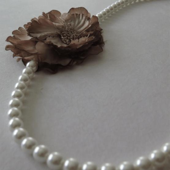 lucia castaño-collar perlas flor-tienda telas on line-telas online
