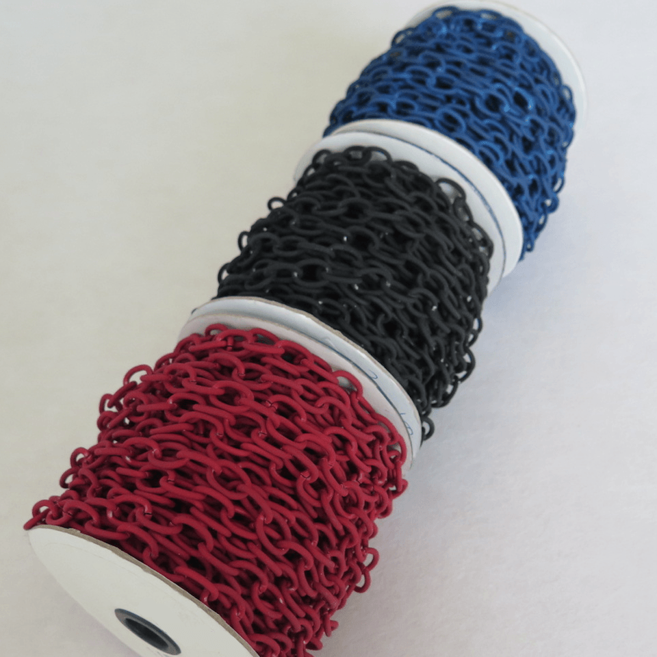 telas divinas-cadena aluminio gomosa bisuteria-tienda telas on line-telas online