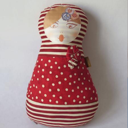 telas divinas-cojin matriuska-cojin muñeca rusa-tienda telas on line-telas online