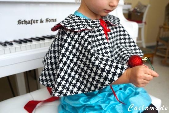 telas divinas-hacer capa de niña-capa de niña