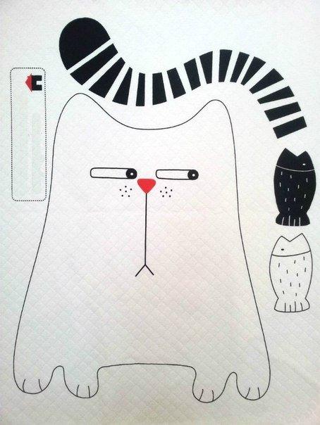 telas divinas-tutorial gato tela-hacer gato de tela-telas online