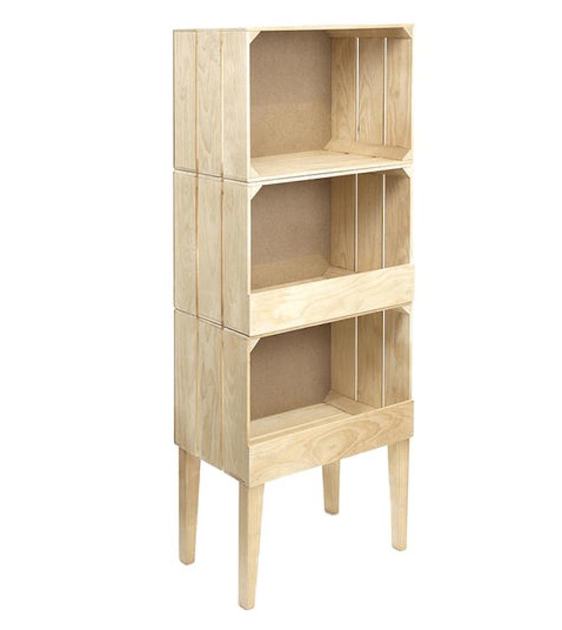 Hacer estanter as con cajas de madera recicladas - Como decorar una caja de madera ...