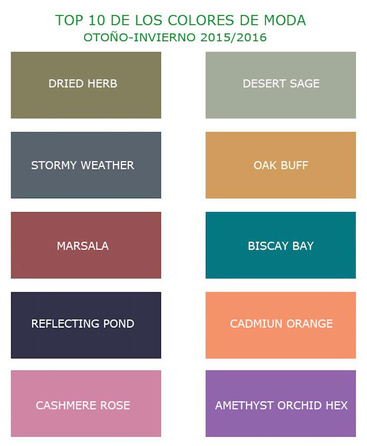 Colores De La Temporada Otoo Invierno 2015 2016