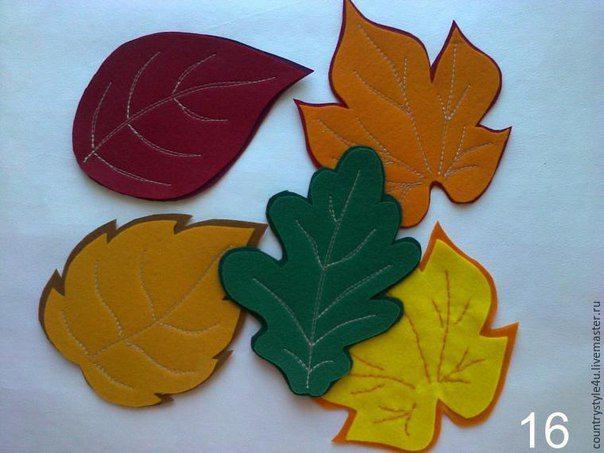 telas divinas-posavasos hojas de fieltro
