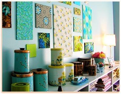 Decorar con telastelas divinas tienda de telas online - Decorar paredes con telas ...