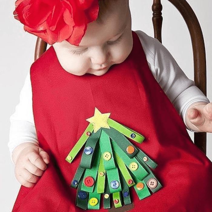 telas infantiles con adornos navideos