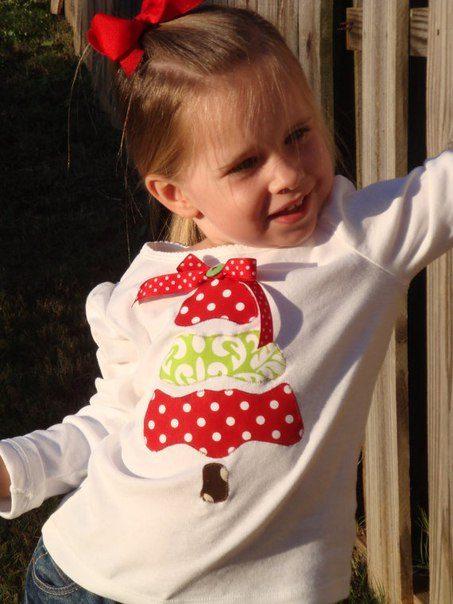 telas divinas-camisetas infantiles con adornos navideños