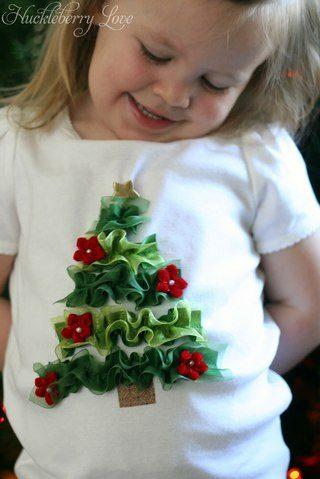 telas divinas-camisetas infantiles con adornos navideños-3
