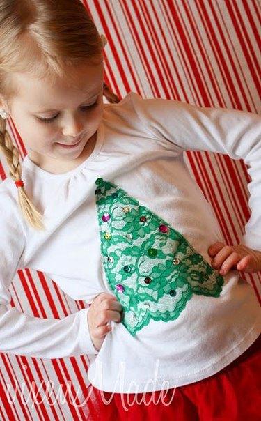 Como Decorar Una Camiseta De Navidad.Camisetas Infantiles Con Adornos Navidenos Telas Divinas