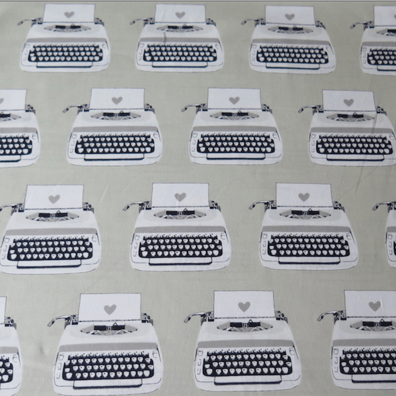 tela estampada máquinas escribir antiguas