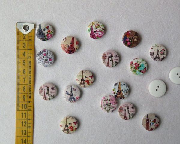 botones torre eiffel