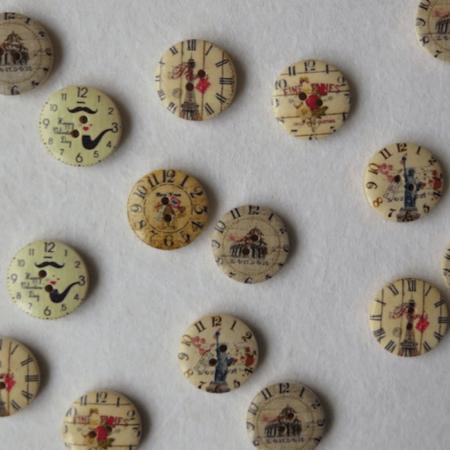 telas divinas-botones vintage.-
