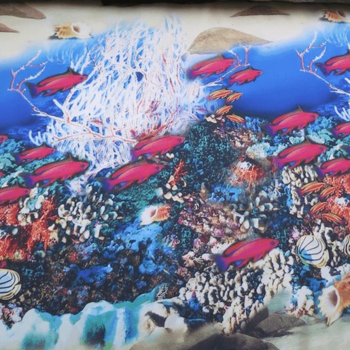 tela estampada peces