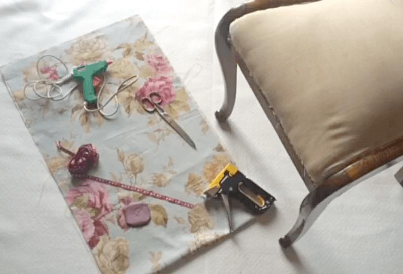 Tutorial para tapizar silla con video telas divinas - Materiales para tapizar ...