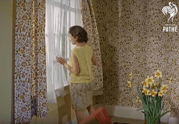 telas de cortina y papel pintado