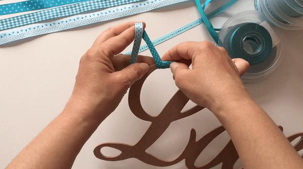 forrar letras con cintas