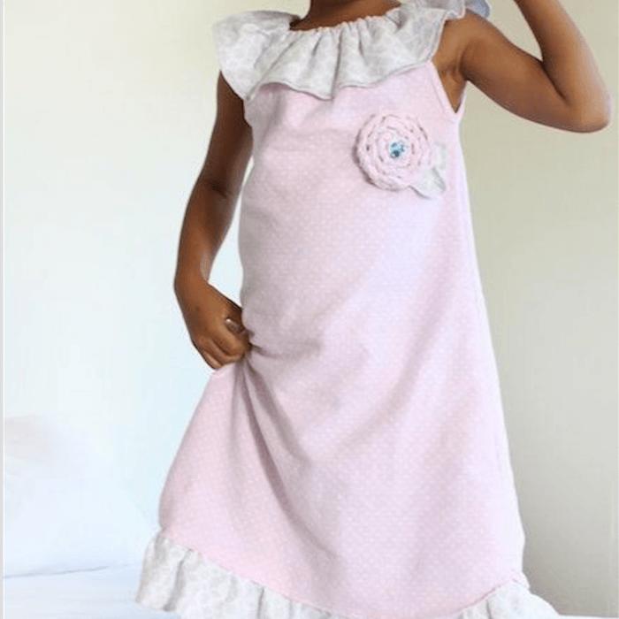 Aprendemos a hacer un camisón de niña preciosoTelas Divinas. Tienda ... dcbbaeec2f46