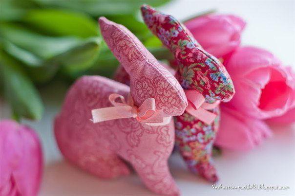 cómo hacer conejos de tela