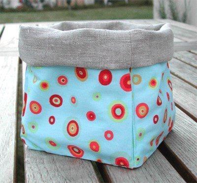 cómo hacer una bolsa pongotodo de tela