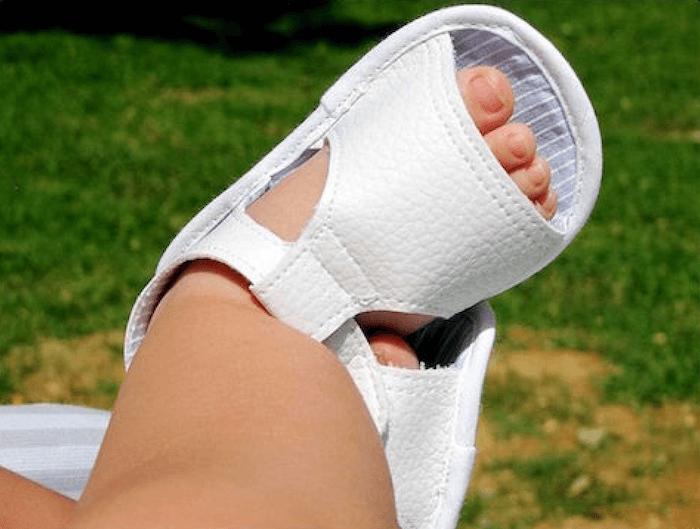 como hacer sandalias de bebe
