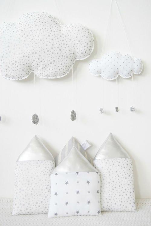 decorar con estrellas lunas y nubes