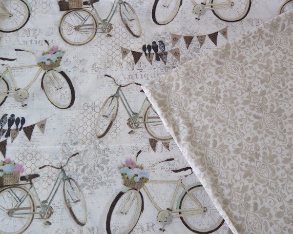 tela estampada infantil bicicletas vintage