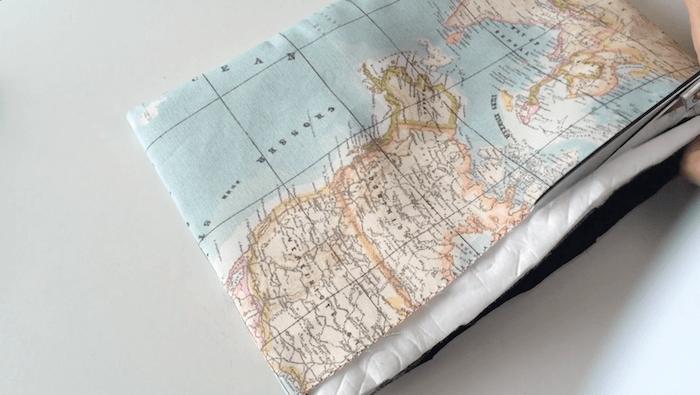 hacer bolsa de aseo de tela