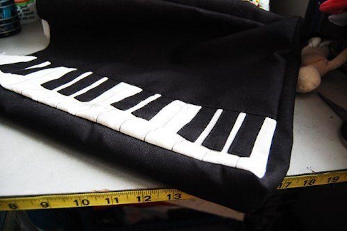como hacer un bolso de piano