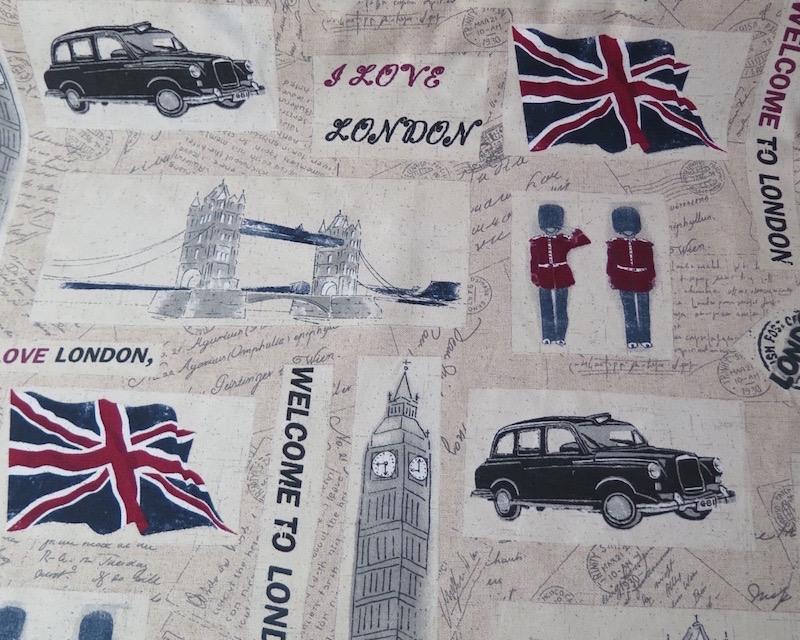 Telas estampada london v lido para tejido para tapicer a - Telas de tapiceria online ...
