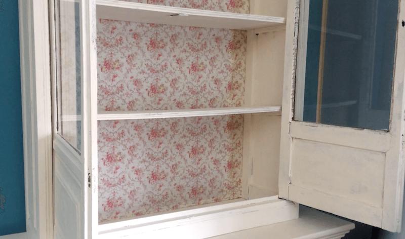 tela estampada para restaurar viejo mueble