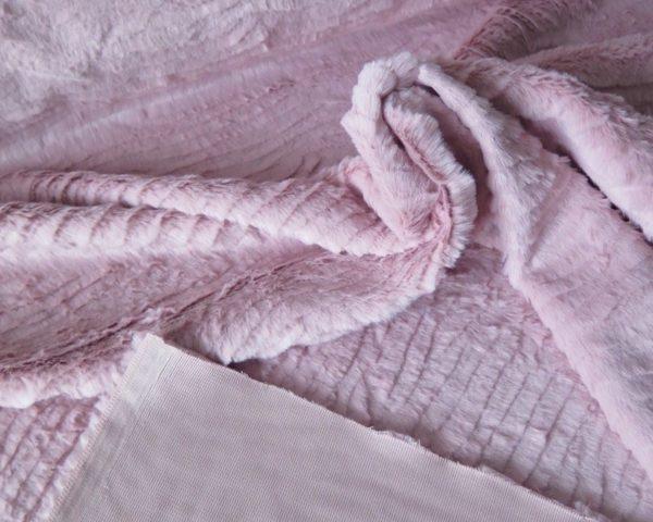 tela pelo recortado rosa palo
