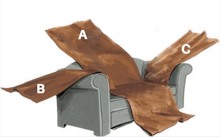 Telas para fundas de sofa cool funda sofa chaise longue - Como hacer una funda para un sofa ...