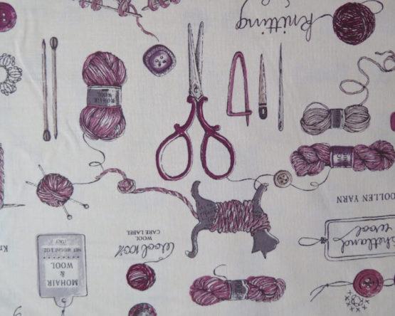 tela estampada costura grana