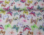 tela estampada mariposas