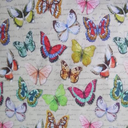 tela estampada mariposas