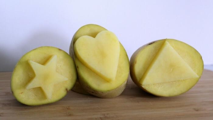 sellos de patata para estampar telas