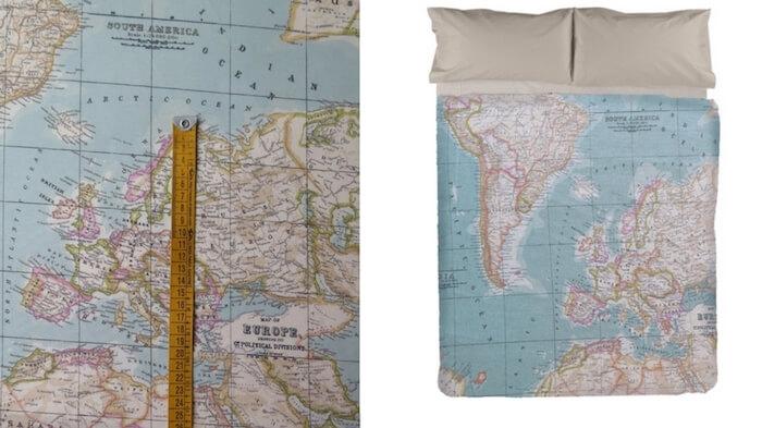 tejido mapamundi