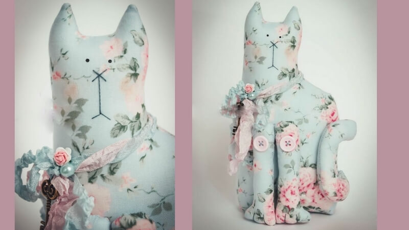 hacer un gato de tela